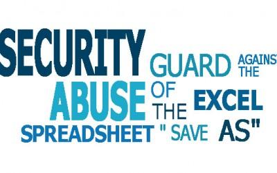 """防止Excel表格""""Save as""""滥用的安全卫士"""